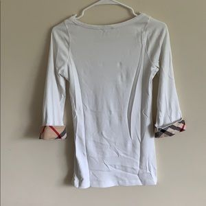Burberry Tops - Authentic Burberry Brit White Long Sleeve Shirt